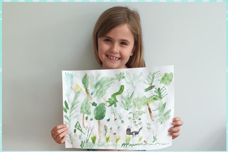 Aria's super watercolour recreation