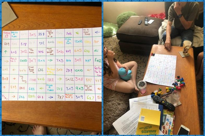 Maddie's excellent maths game and in action