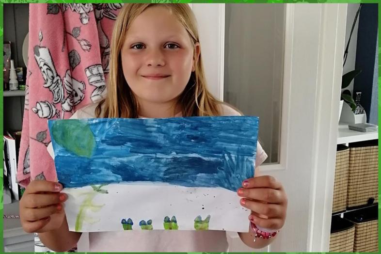 Rainforest plant art from Lexi