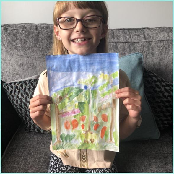 Ellie's fab watercolour recreation