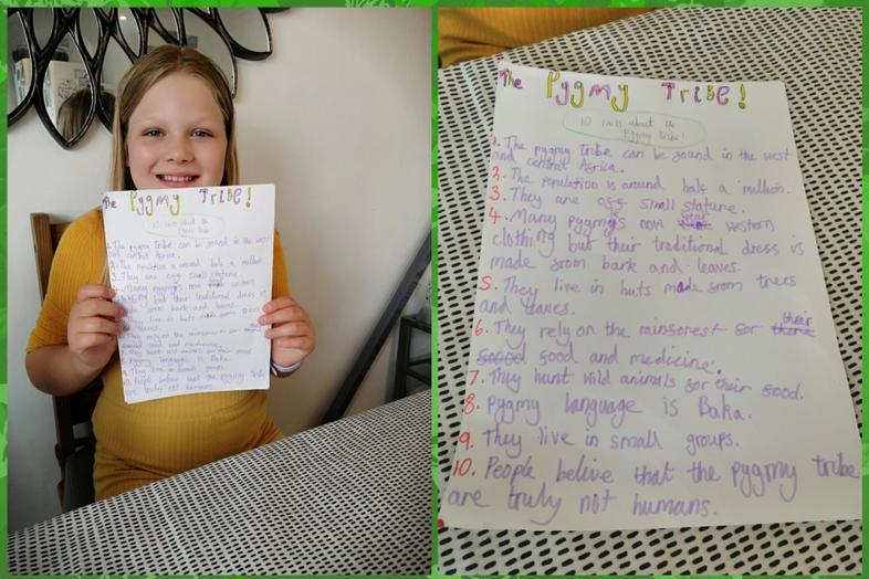 Information about rainforest tribes from Lexi
