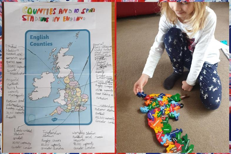 English Stadiums and and English puzzle by Sophie