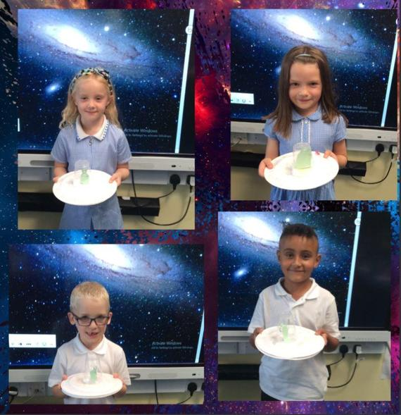 """Year 2 have created their own UFO's while learning about their """"Space"""" topic"""