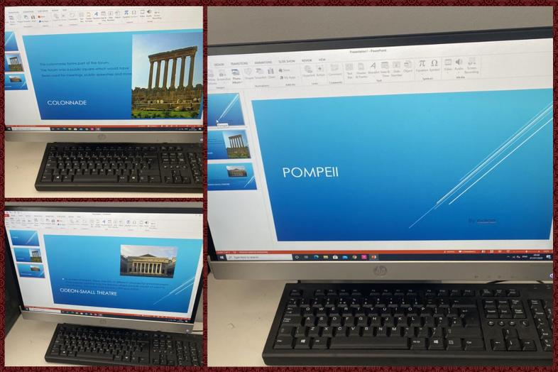 Pompeii research and work by Paige