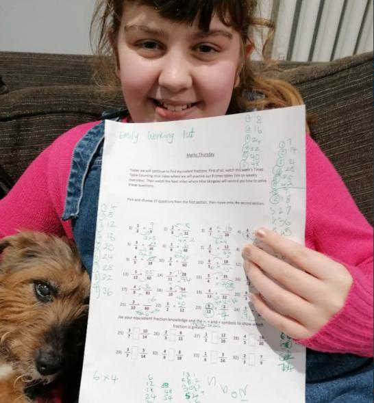 Emily's fabulous fraction work.