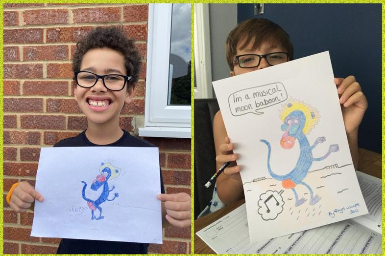 Olaf-inspired art from Jayden and Rhys