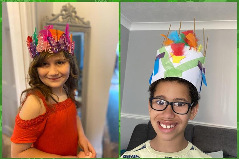 Great head dresses from Louise and Jayden
