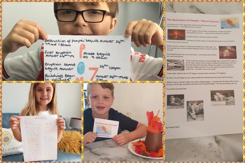 More Mt Vesuvius info by Rhts, Preston and Aria