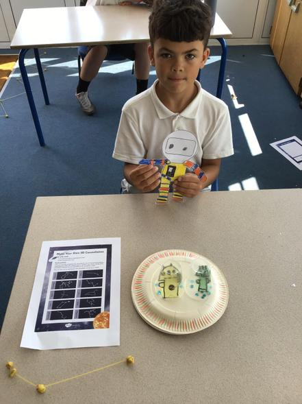 Kyron's UFO and constellation