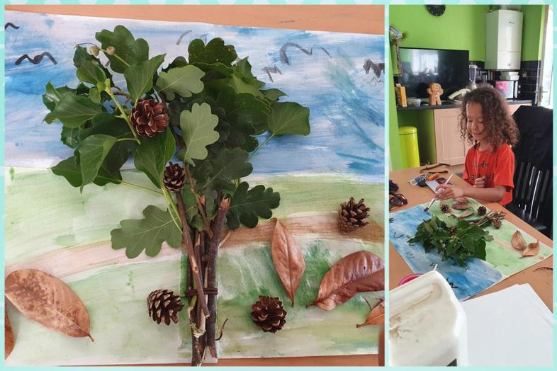 Jasmine's great mix of watercolour and nature