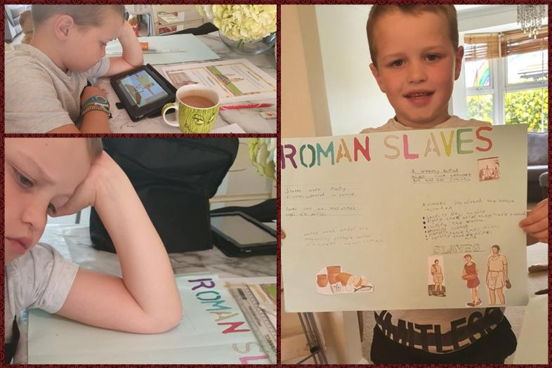 Super research and work by Preston on Romans