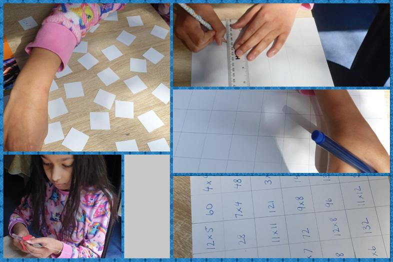 Sab's maths memory game from start to finish