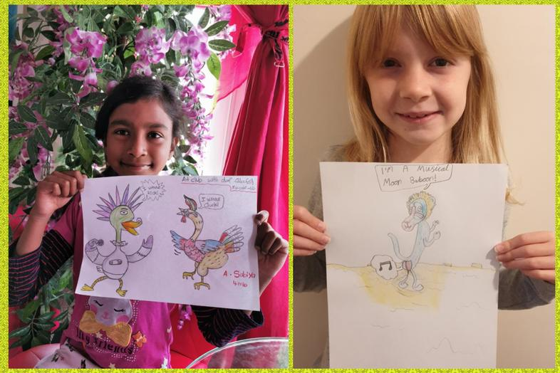 Olaf-inspired art by Sabs and Sophie