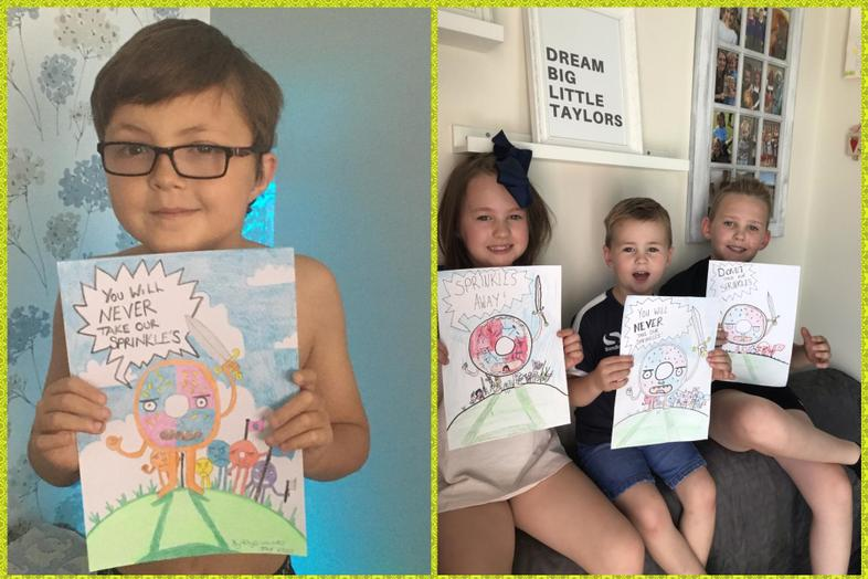 Olaf inspired art by Rhys and The Taylors