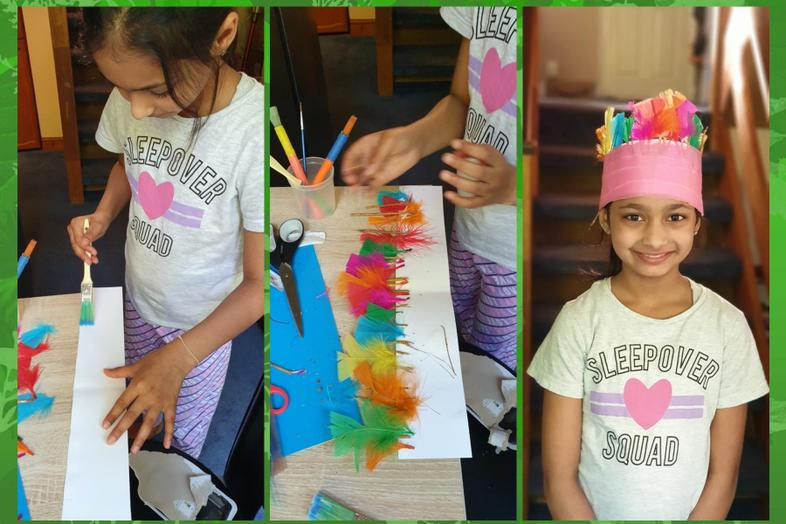 Shriya's head dress