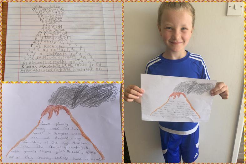 Excellent volcano poems by Lacie and Sophie