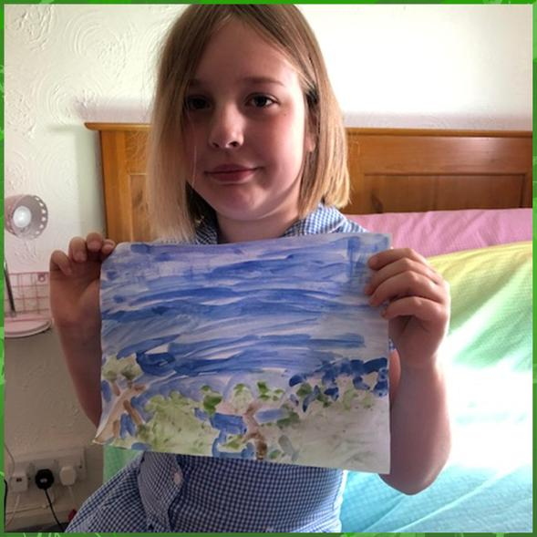 Rousseau watercolour recreation by Layla