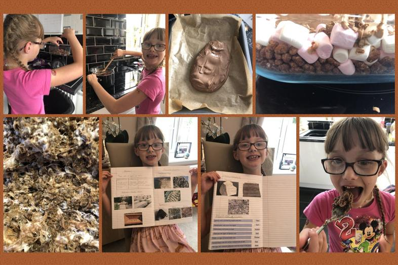 Rock knowledge and chocolate rocks from Ellie