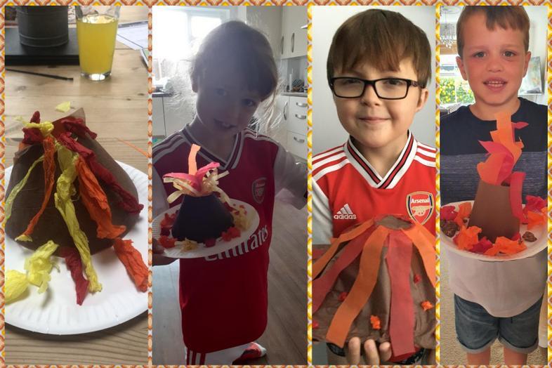 Volcano models by Jordan, Kiera, Rhys and Preston