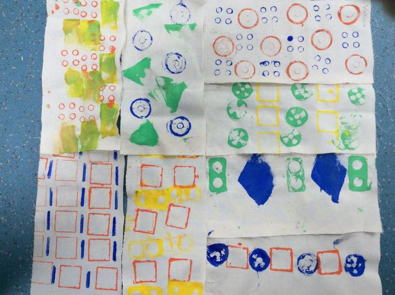 We've explored printing repeating patterns onto textile using everyday objects in Art.