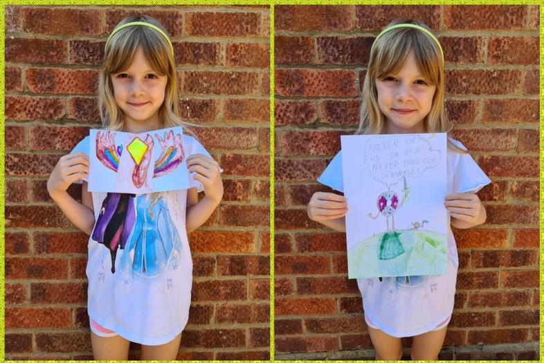 Olaf inspired art by Sophie