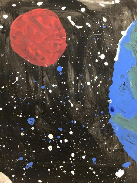Amazing Space paintings!