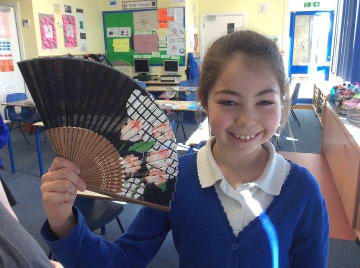 A traditional Japanese fan