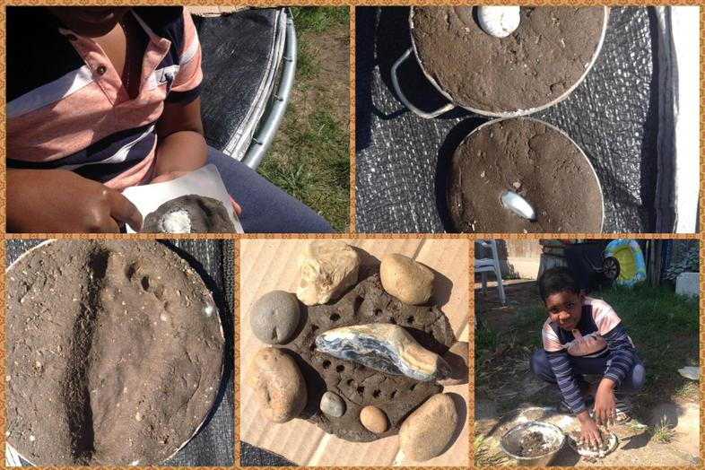 Augustin's fossil making