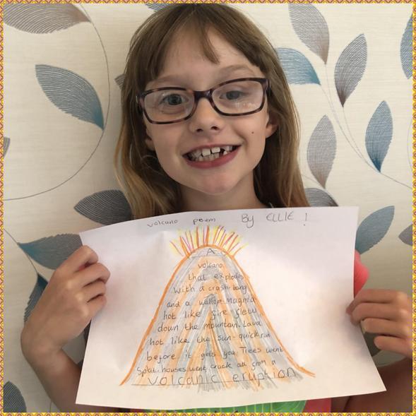 Ellie's awesome volcano poem