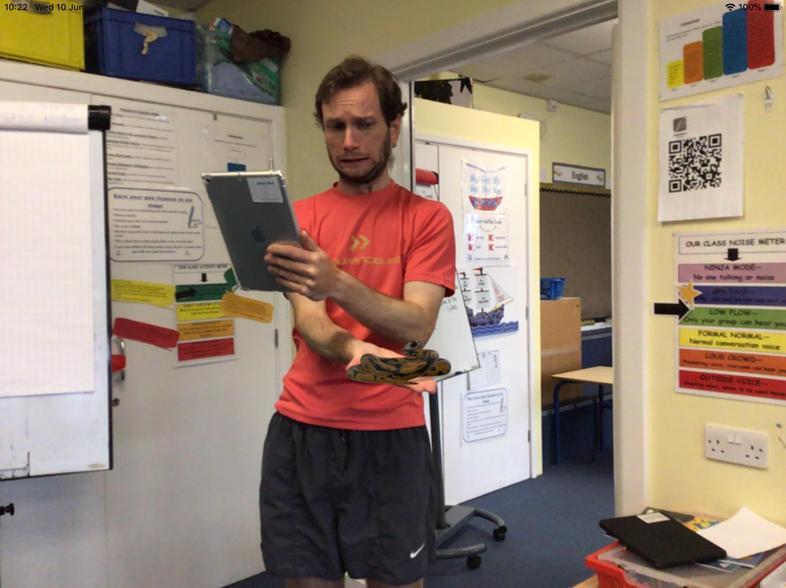 Mr Fenn looks a bit worried...