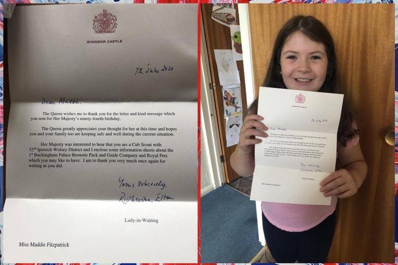 A letter from Windsor Castle for Maddie! Wow!
