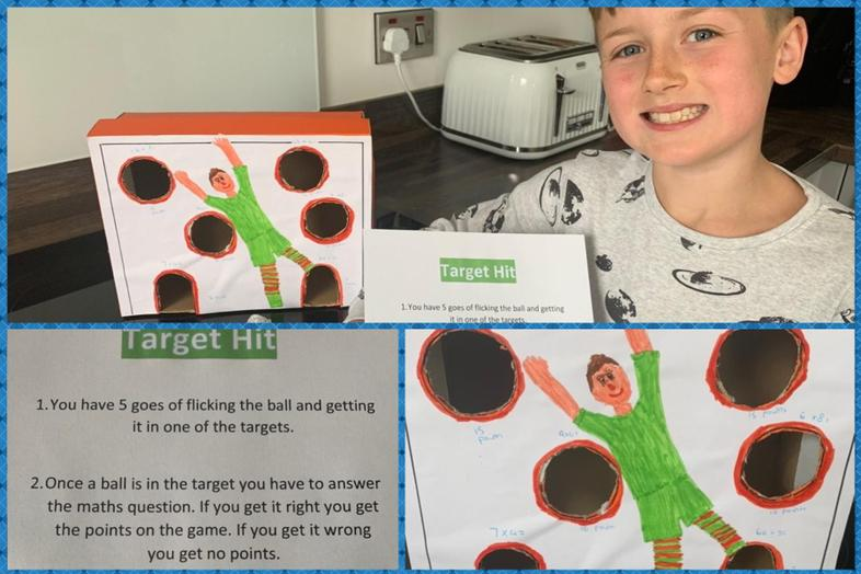 Ethan's Hit The Target Maths Game