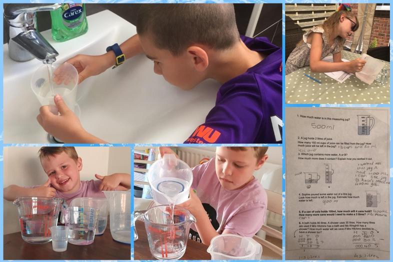 Maths capacity work by Lucas, Preston and Ellie