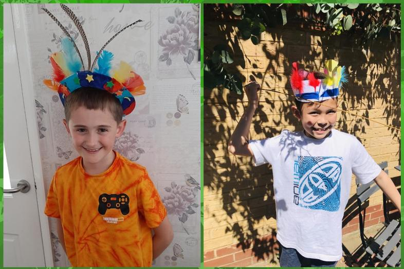 Calum's and Max's Head dresses