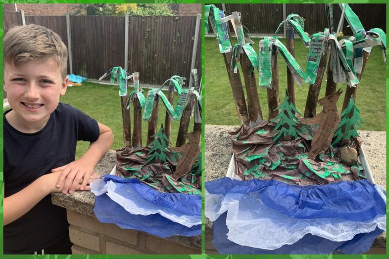 Rainforest art by Ethan