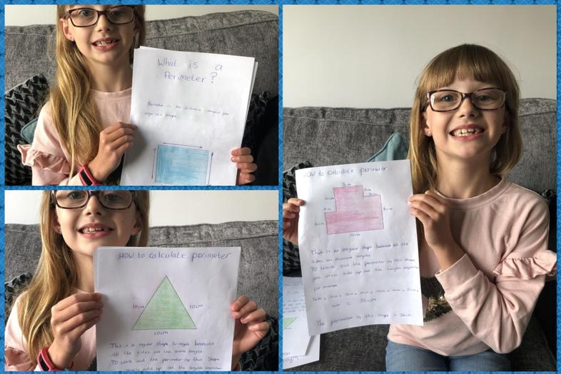 Ellie shows how to work out a perimeter of a shape