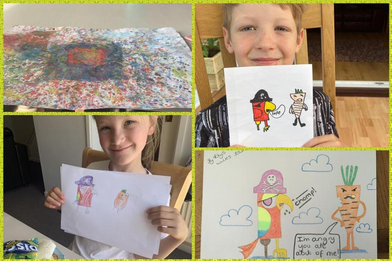 More Olaf art - Lacie, Alfie and Rhys