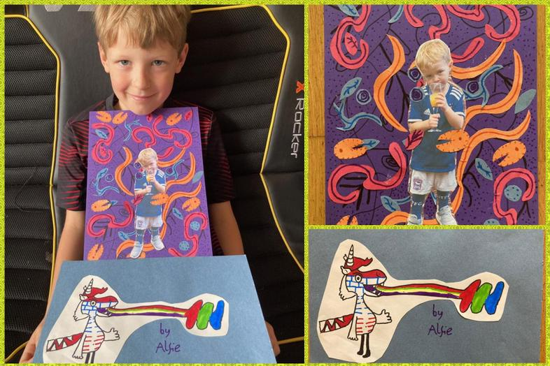 Great Olaf inspired art by Alfie