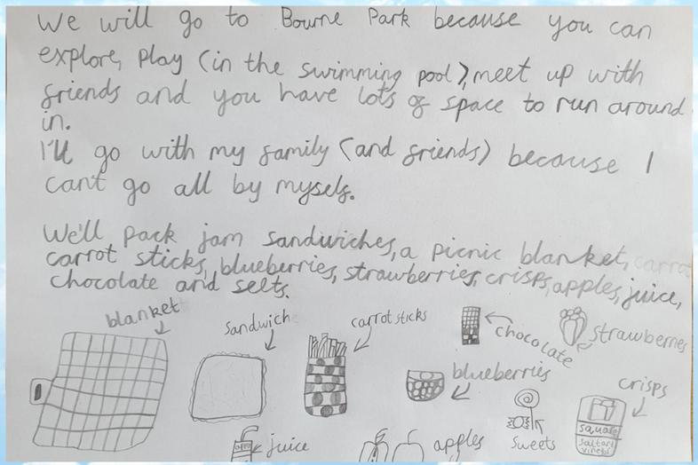 Sophie's Picnic Plan...making me hungry!