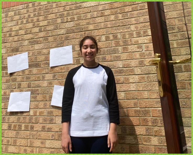Zahra at the reaction wall