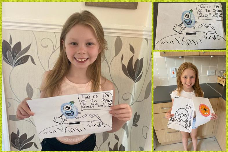 Olaf-inspired art from Courtney