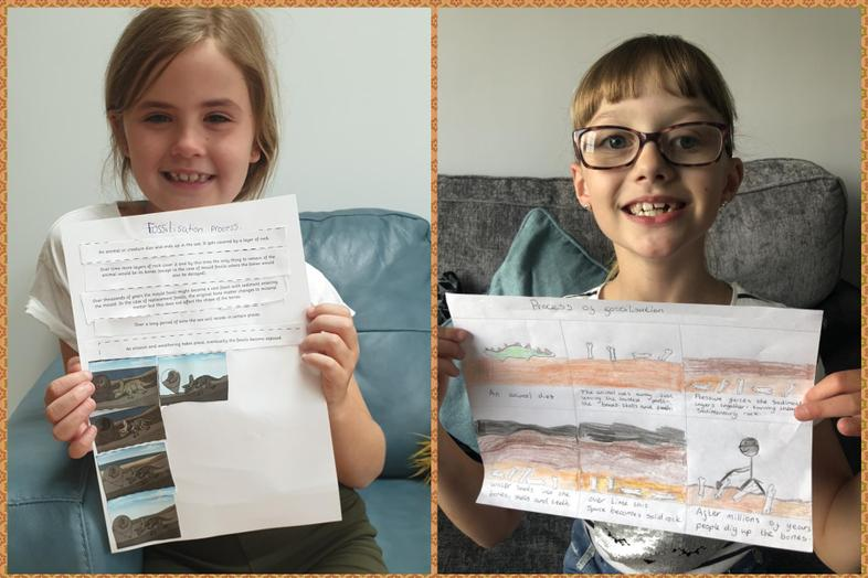 Aria's and Ellie's fab fossilisation process work