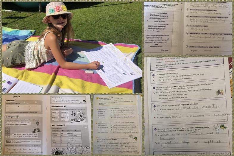 English in the sun, what could be better!