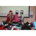 We gave Santa High 5!