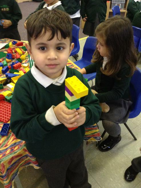 We made tools from Duplo for our car garage.