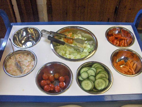 The Salad Bar forms part of each meal!