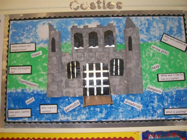Knights and Castles Year 1 display