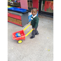 Transporting objects around the garden.
