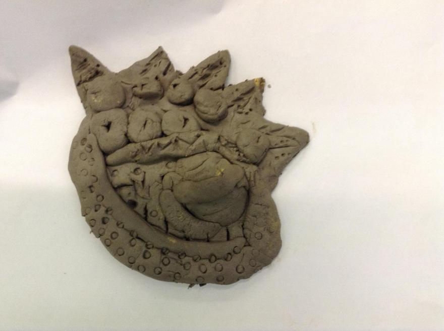 Clay has been moulded and shaped