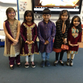 We came dressed in traditional clothes for Diwali